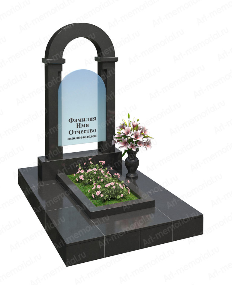 Памятники с гранитной аркой № 104-4